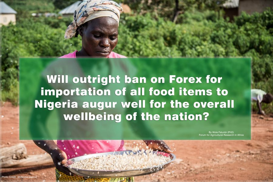 Will outright ban on Forex for importation of all food items to Nigeria augur well for the overall wellbeing of the Nation?