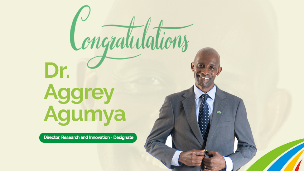 Dr. Aggrey Agumya assumes the role of Director for Research and Innovation-designate