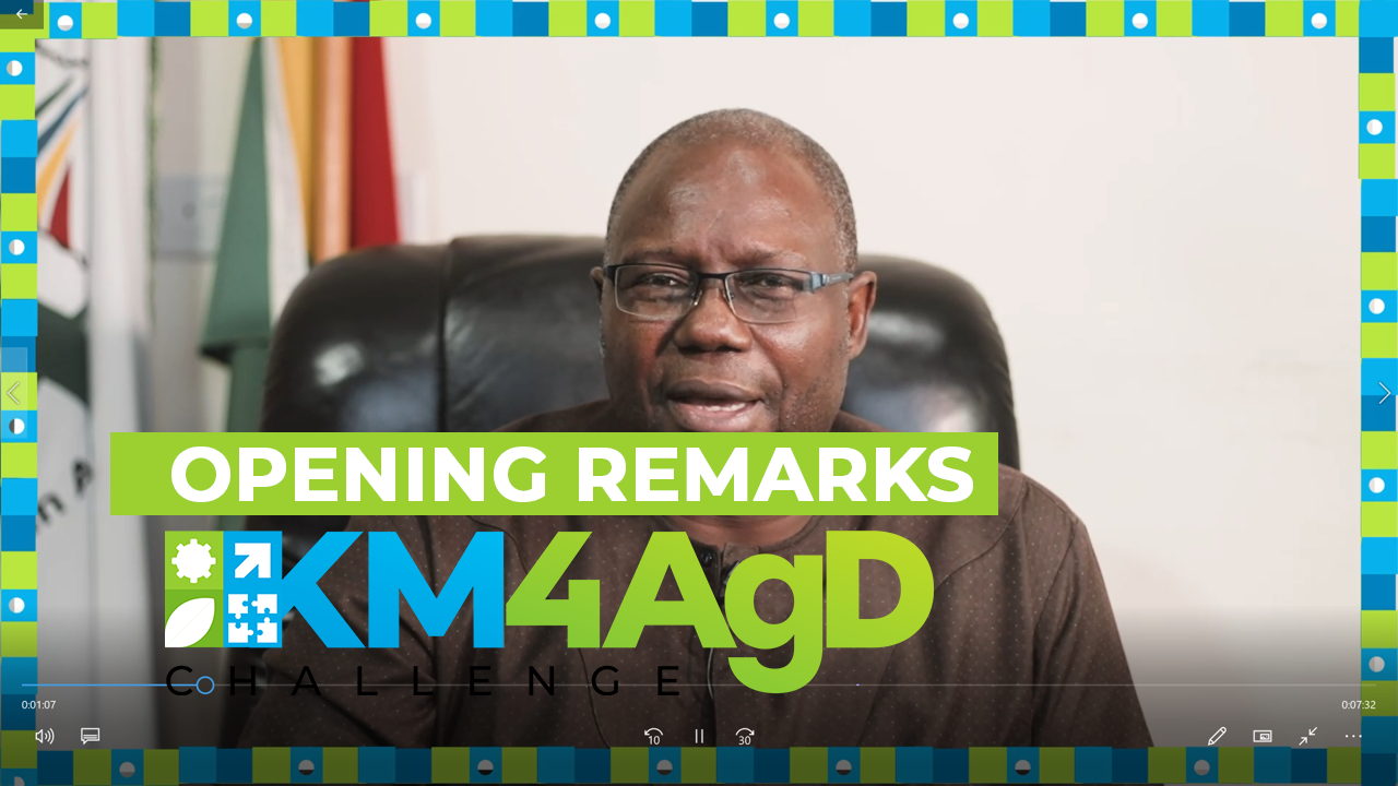 KM4AgD Challenge: Opening Remarks by the Executive Director